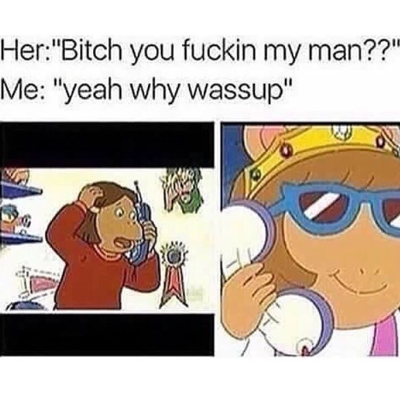"""This one where D.W. didn't give two shits about fucking up Francine's life:   23 """"Arthur"""" Memes That Just Went Too Far"""