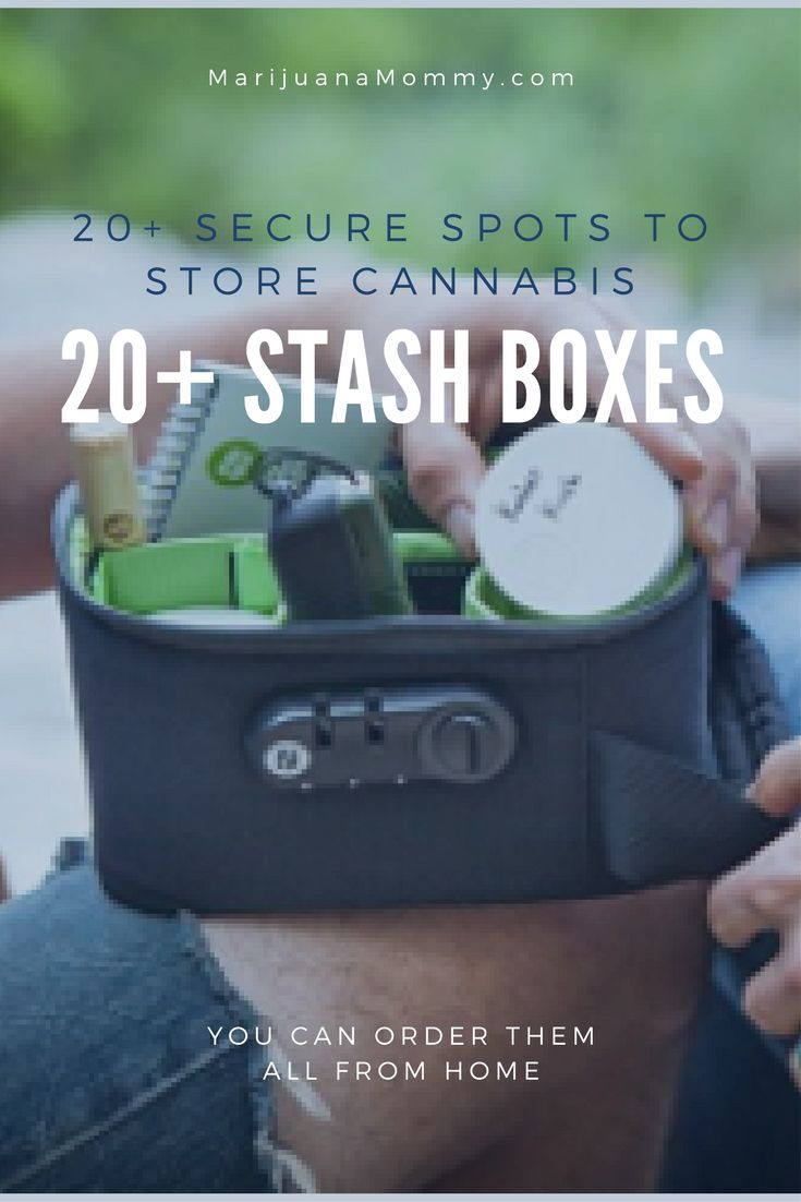 20+ Weed Stash Boxes to Securely Store Cannabis Searching for a safe spot to store cannabis?  Just because prohibition is ending doesn't mean we should be careless.  Store marijuana responsibly in one of these 20+ weed stash boxes. https://www.marijuanamommy.com/20-weed-stash-boxes-securely-store-cannabis/