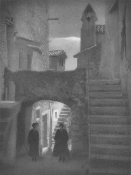 Tadeusz Wański collection / Chorwacja / Krk / Zaułek ze schodami / 30 x 40 cm, bromolej