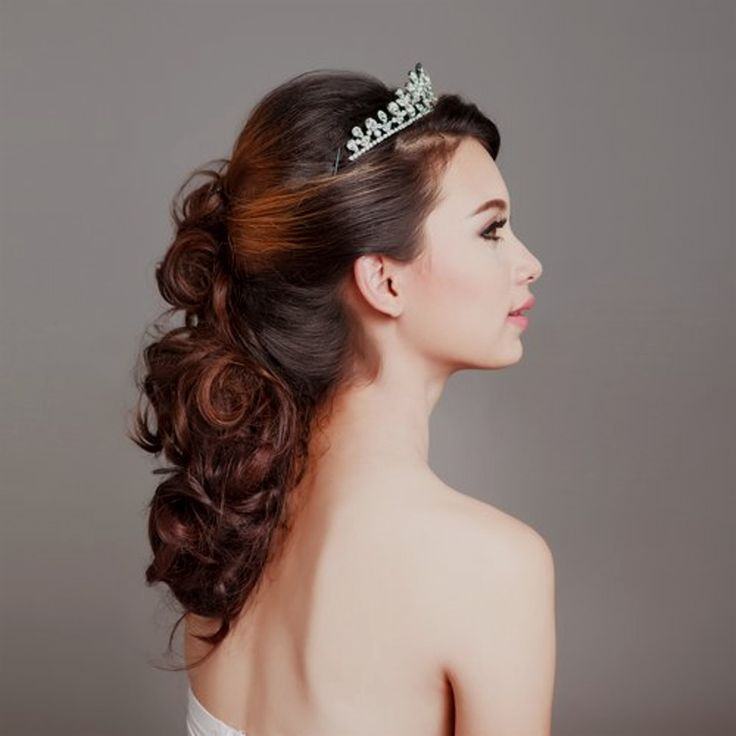 Top Hairstyles Bridal Hairstyles With Diadem And Veils ... - #Bride Hairstyles #Diad #Hairstyles #Several #with