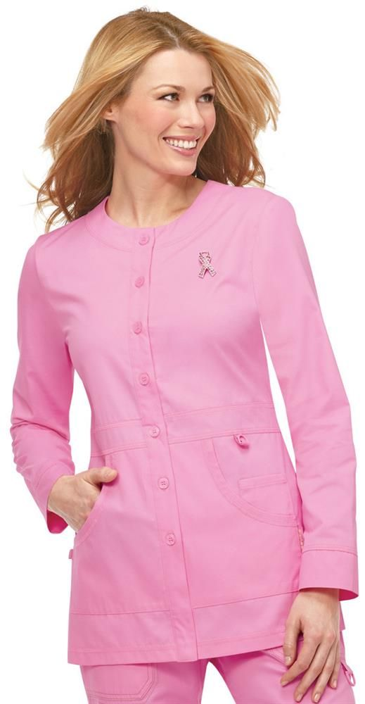 Scrubs - Koi Pink Ribbon Olivia Scrub Jacket   Koi Scrubs   Brands   www.LydiasUniforms.com