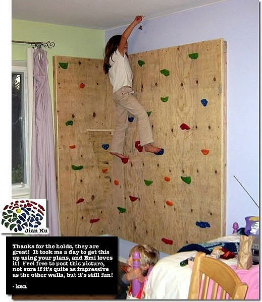 Wanna do this on the side of mobile home.My home is already 6 ft. off the ground so I can do this pretty tall for my young teens.