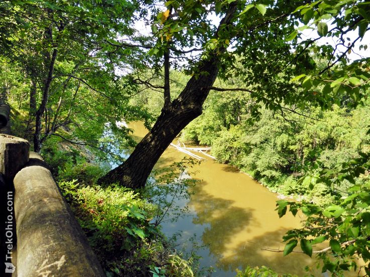 Vermilion River Scenic Overlook at OH-2 Rest Area | TrekOhio