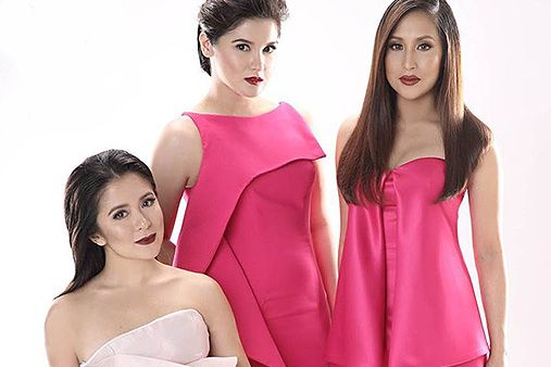 "In a rare moment, former ""Ang TV"" co-stars Camille Prats, Jolina Magdangal and…"