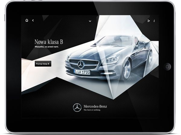 Mercedes iPad app by Maciej Mach, via Behance