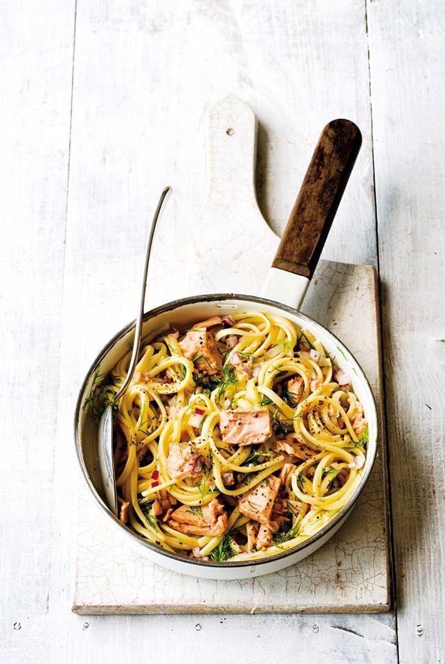 Λιγκουίνι με τόνο και λεμονάτη σάλτσα με άρωμα άνηθου