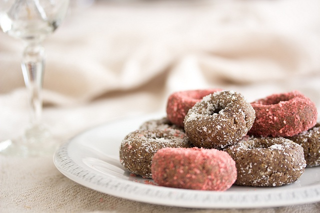 Cute mini donuts Raw food style