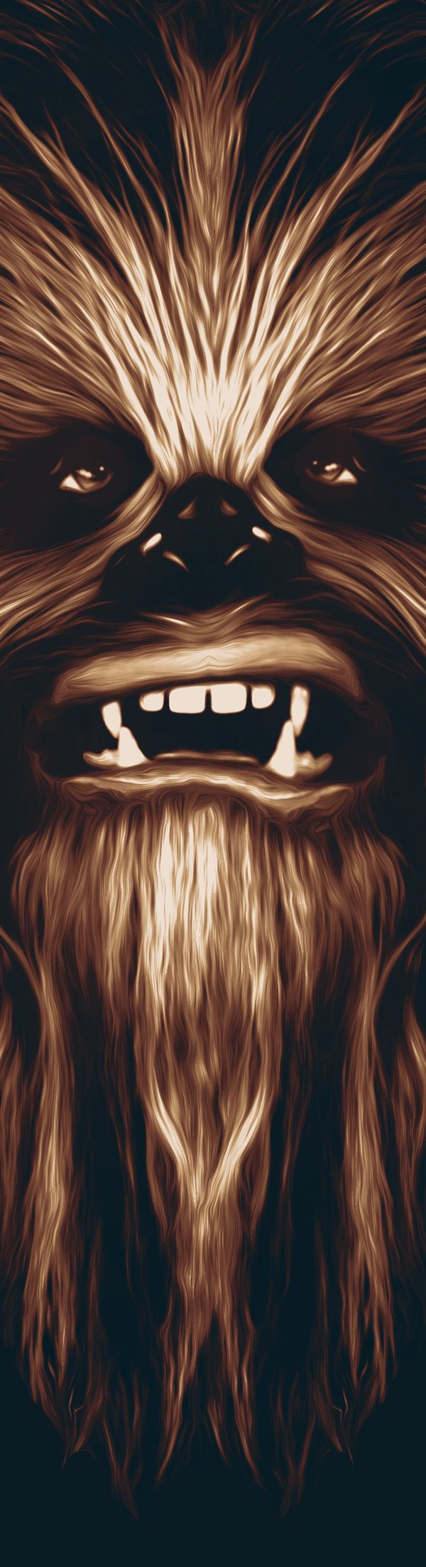 Chewbacca on Behance #starwars_ Kind of reminds me of Jack Nicholson in The Shinning. LOL