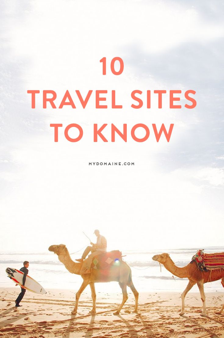 Plan a trip using these favorite travel sites