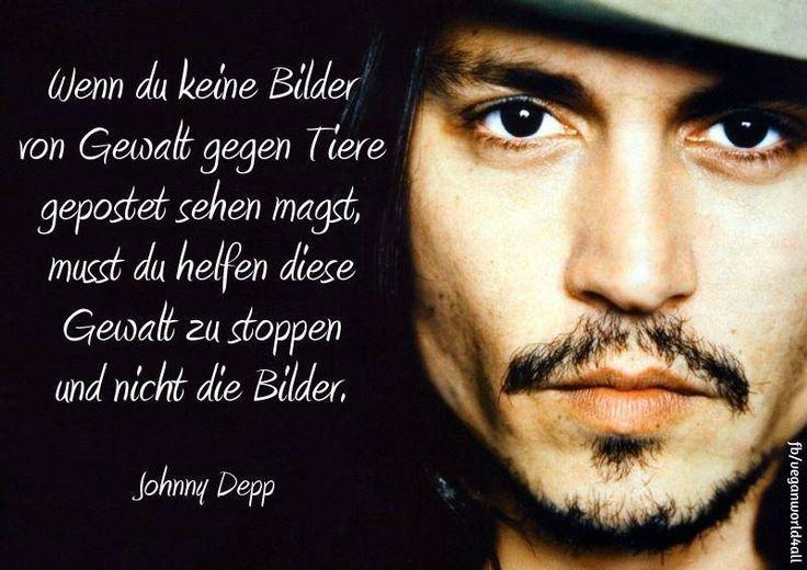 Wenn du keine Bilder von Gewalt gegen Tiere  gepostet sehen magst, musst du helfen diese Gewalt zu stoppen und nicht die Bilder...  Johnny Depp