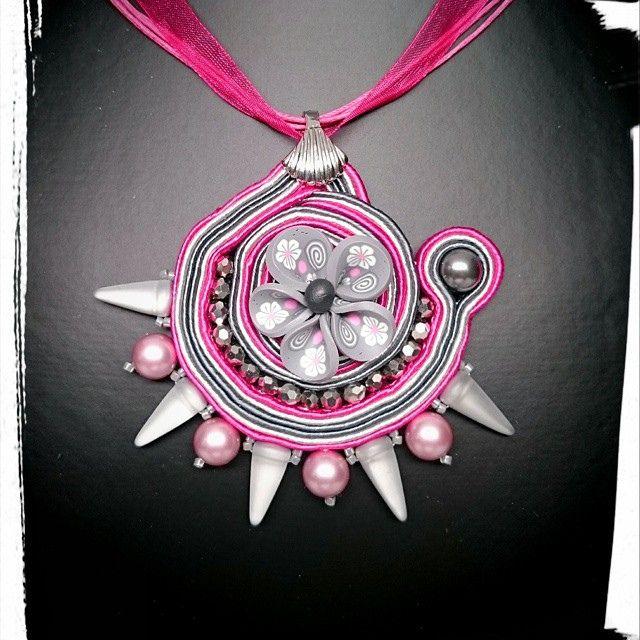 #soutache pendant - spring collection 2015
