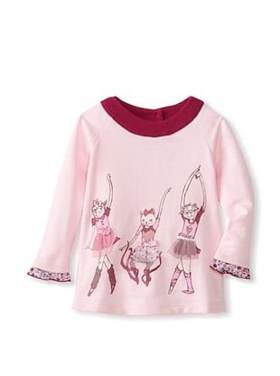 73% OFF Sweet Potatoes Baby I Love U Raglan Tunic (Light Pink)