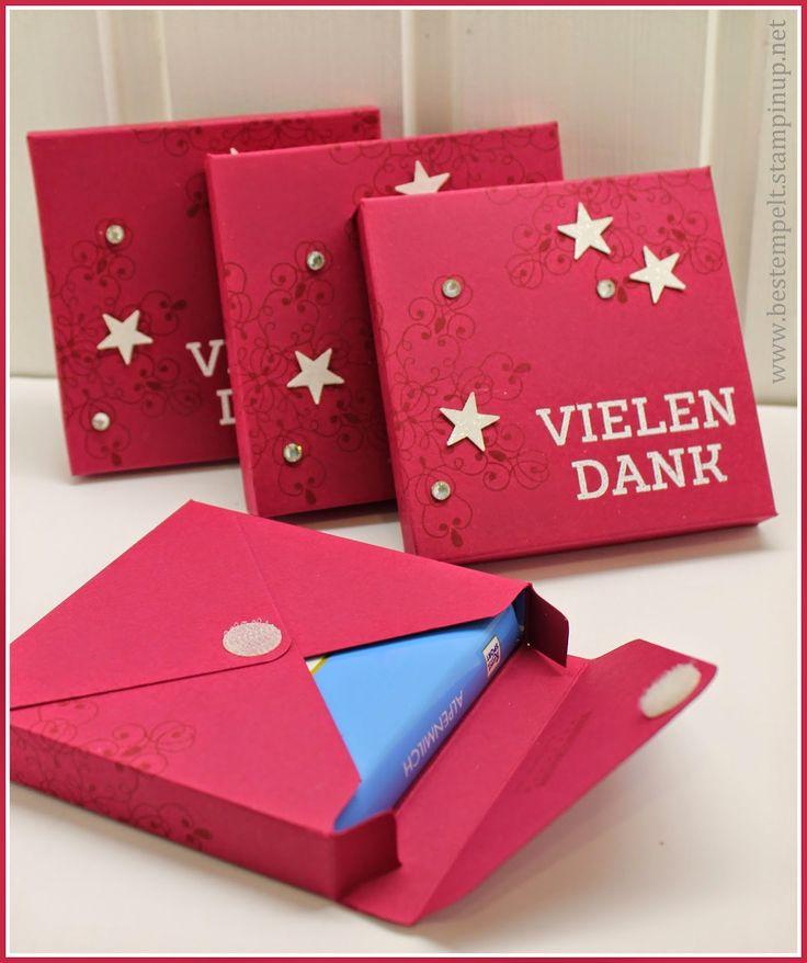 Stampin`Up! Envelope Punchboard, Winterwerke, Embossing, Ritter Sport, Verpackung