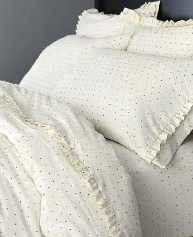 Swiss Dot Ruffle Bedding