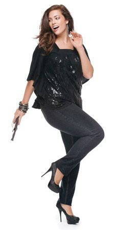 You're getting ready for a night out in the town, and suddenly you realize you've put on a few pounds, nothing in your wardrobe seems to fit and you feel like a fat blob. Grab an oversize asymmetrical sparkly top, pair it with a pair of dark pants, vamp it up with some accessories and a pair of heels and you're good to go!