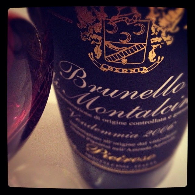 Brunello di Montalcino is, for some, the ultimate wine for grilled steak, and Tuscany's beef is indeed the finest in Italy. Marinated and grilled portabello mushrooms over polenta is another excellent partner, and the wine is considered classic with stewed cinghiale or rabbit ragù over pappardelle.