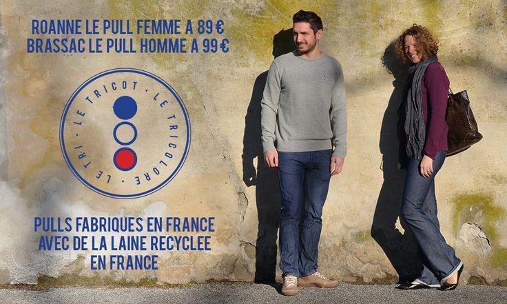 LeTricolore, Pulls fabriqués en France - Pulls en laine récyclée en France