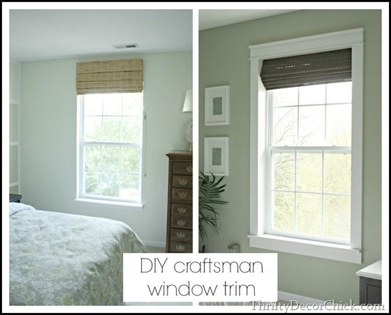 Installing Trim Makes All The Difference! Full picture tutorial including measurements on Thrifty Decor Chick!