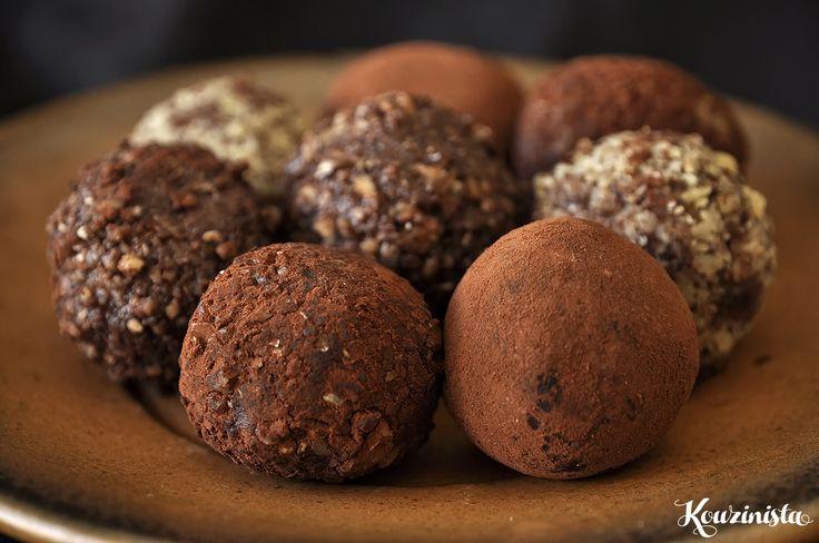 Tρουφάκια με dulce de leche / Dulce de leche melting middle truffles