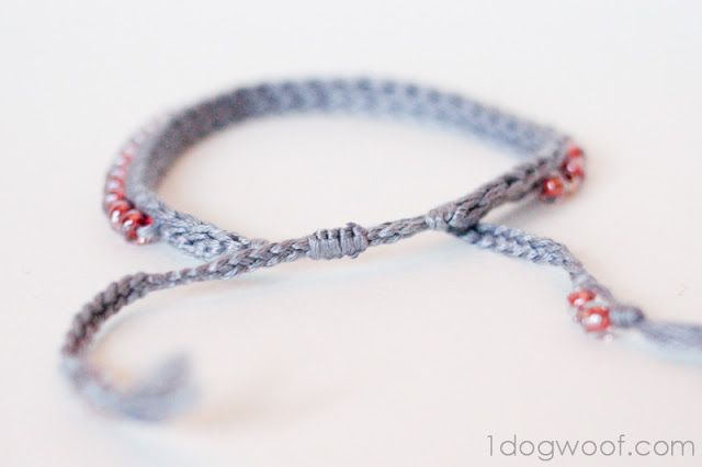 One Dog Woof: Crochet Bracelet with Beads