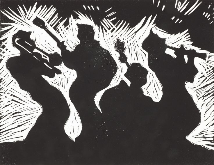 """Licks"" available in cards, cards printed from lino cut, Chardon's Cards Etc., Chardon Labrie"