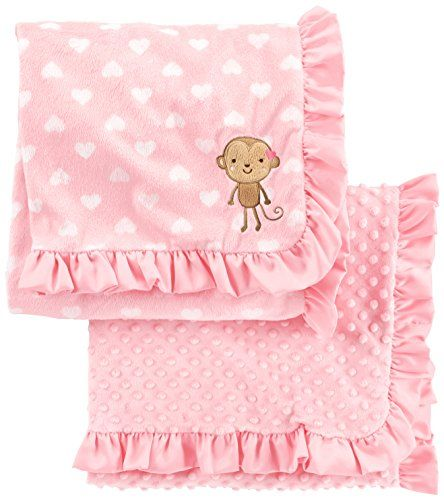 Simple Joys by Carter's Baby Girls' 2-Pack Plush Blankets, Pink, One Size #Simple #Joys #Carter's #Baby #Girls' #Pack #Plush #Blankets, #Pink, #Size