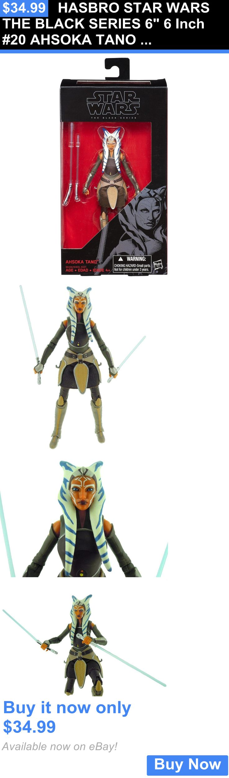 Toys And Games: Hasbro Star Wars The Black Series 6 6 Inch #20 Ahsoka Tano Action Figure New BUY IT NOW ONLY: $34.99