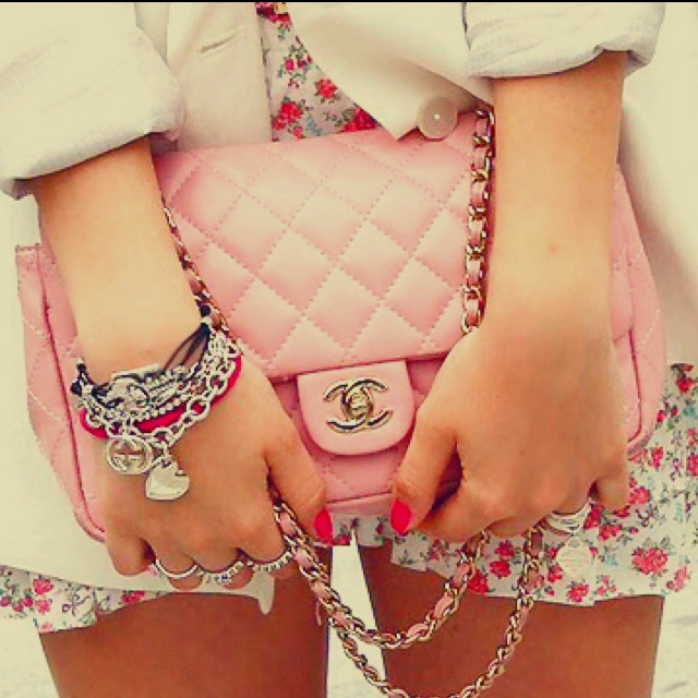 The purse! Floral shorts! Arm candy! Pink :)