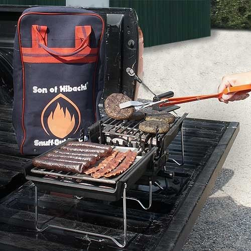 Whether it is a camping trip, tail gate party or even just a day at the beach, the Son of Hibachi is one of the most versatile charcoal barbecuing systems on the market. The ingenious blast furnace concept simulates the effect of a chimney and enables you to be cooking in less than 10 minutes.