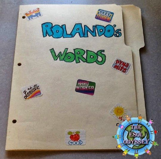 The ESOL Odyssey: Strategy of the Week: Personal Word Walls
