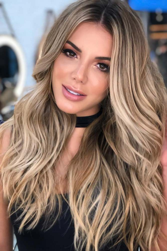 55 Highlighted Hair For Brunettes Lovehairstyles Com Brown Blonde Hair Brunette Hair Color Blonde Hair Color