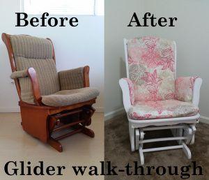 Nursery DIY glider redo glider reupholster