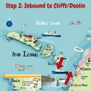 Travel to the Cliffs of Moher and the Aran Islands with Doolin2Aran Ferries. Click here to book your Combination Day Trip, Cliffs & Aran Islands cruise.