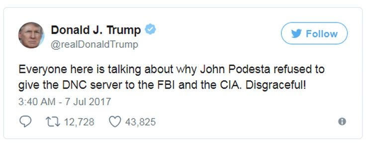 Trump's tweet about John Podesta not turning over the DNC servers is downright confusing, for these three reasons.