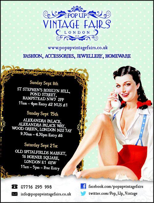 Pop Up Vintage Fairs London Run by my beautiful friend