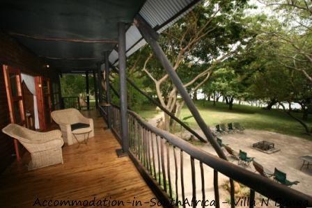 Veranda at Villa N'Banga. Villa N'Banga Mozambique.