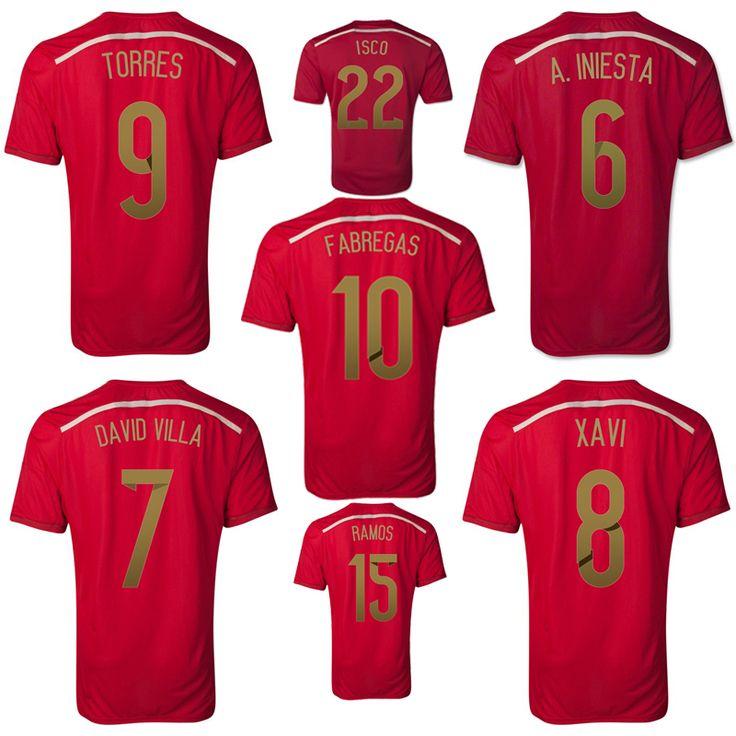 a29a7ec24 ... football jersey 2018 7 morata 22 isco  world cup 2014 jerseyes espaÑa world  cup 2014soccer jerseysthailand 2014 spain world cup 22 isco home
