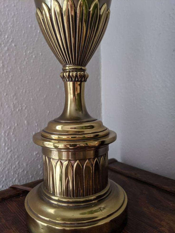 Stiffel Table Lamp Brass Heavy Mid, Stiffel Brass Lamps Value