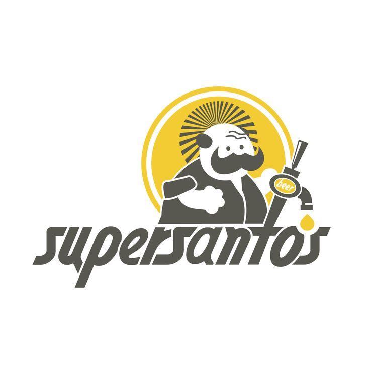 #Mammagallo #Portfolio: #Logo Supersantos #Beershop