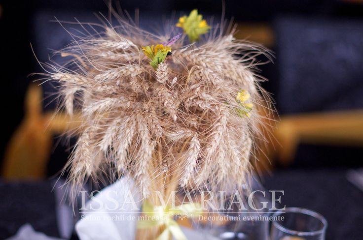 Decoratiuni nunta spice de grau