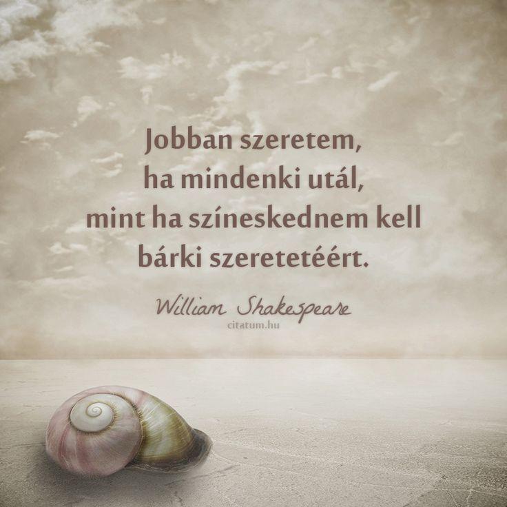 William Shakespeare idézet a színjátszásról.