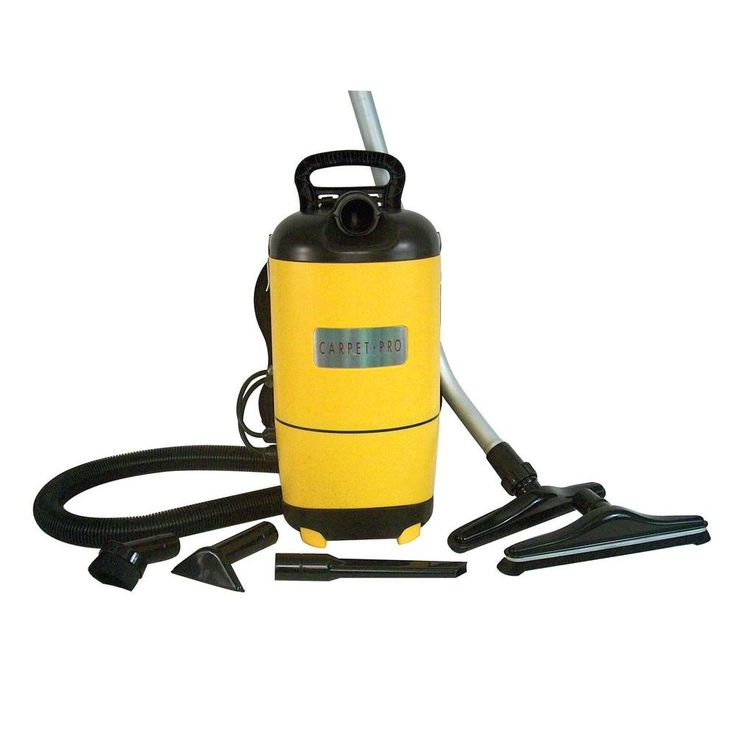Carpet Pro Commercial Backpack Vacuum, Yellows/Golds