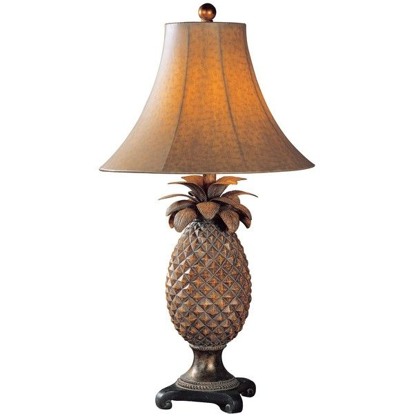 Uttermost Anana Pineapple Table Lamp (€205) ❤ liked on Polyvore featuring home, lighting, table lamps, brown, pineapple lights, pineapple table lamp, pineapple shaped lamps, brown shade and brown table lamps
