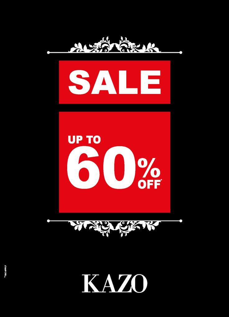 KAZO Sale is still on! Get Upto 60% off from 15th - 21st Jan. More styles added to sales! Visit your nearest store and leading MBO's now!