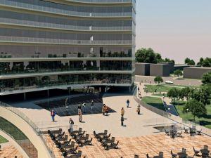 По замыслу дизайнера-архитектора гостиница делится на несколько зон. На первом этаже располагается ресторан, холл, медпункт и вся общественная зона. Второй этаж - эксплуатируемая крыша с зоной расширения кафе в летнее время. С 3-го по 9-ый этаж находятся гостиничные номера. Само расположение гостиницы и ее благоустройство очень выигрышное. Рядом расположена парковка, достаточное количество мест для отдыха, такие как скамейка и выносные столики. #design #hotel #designhotel #decohata #odessa
