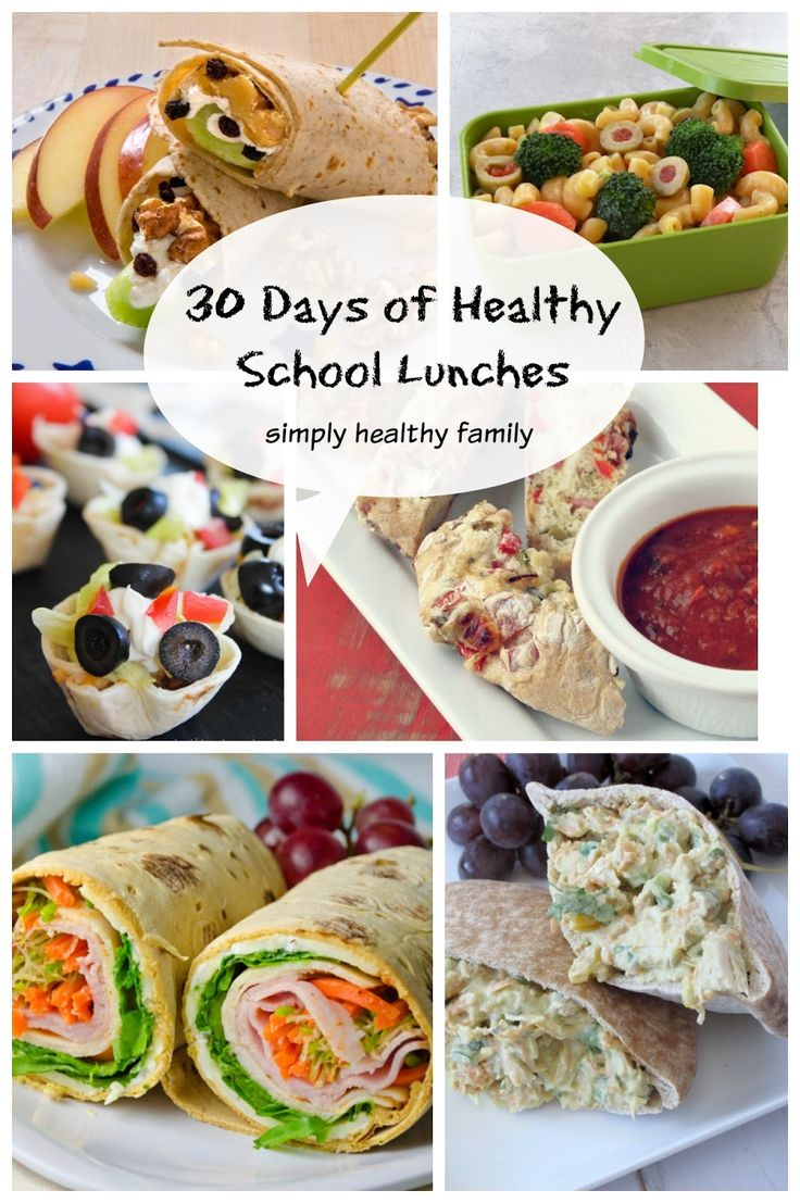30 days of healthy simple back to school lunch box ideas