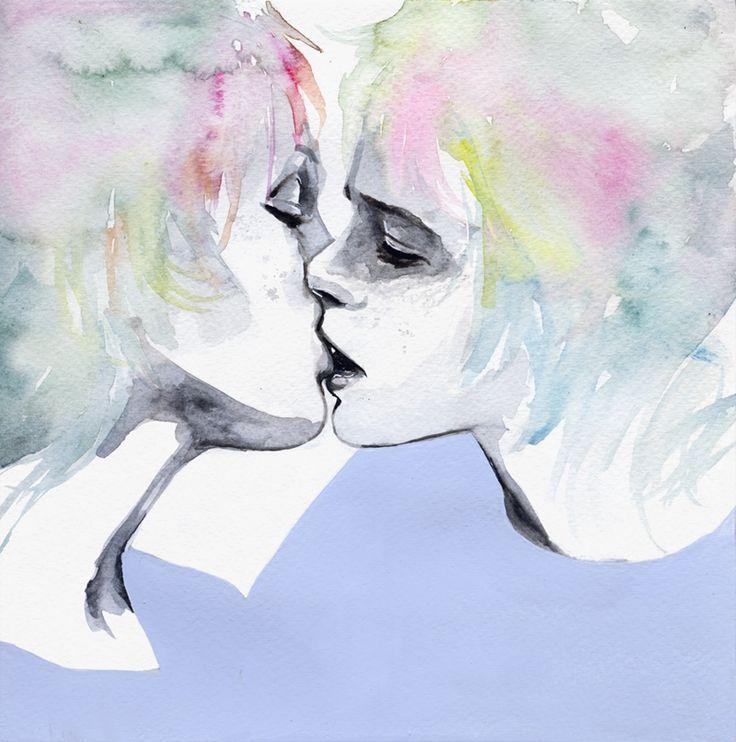 ragazzo solo, ragazza sola by agnes-cecile.deviantart.com on @deviantART