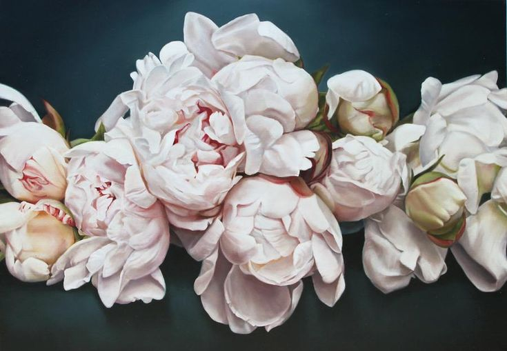 Peonies 3 Painting by Thomas Darnell - Peonies 3 Fine Art Prints and Posters for Sale