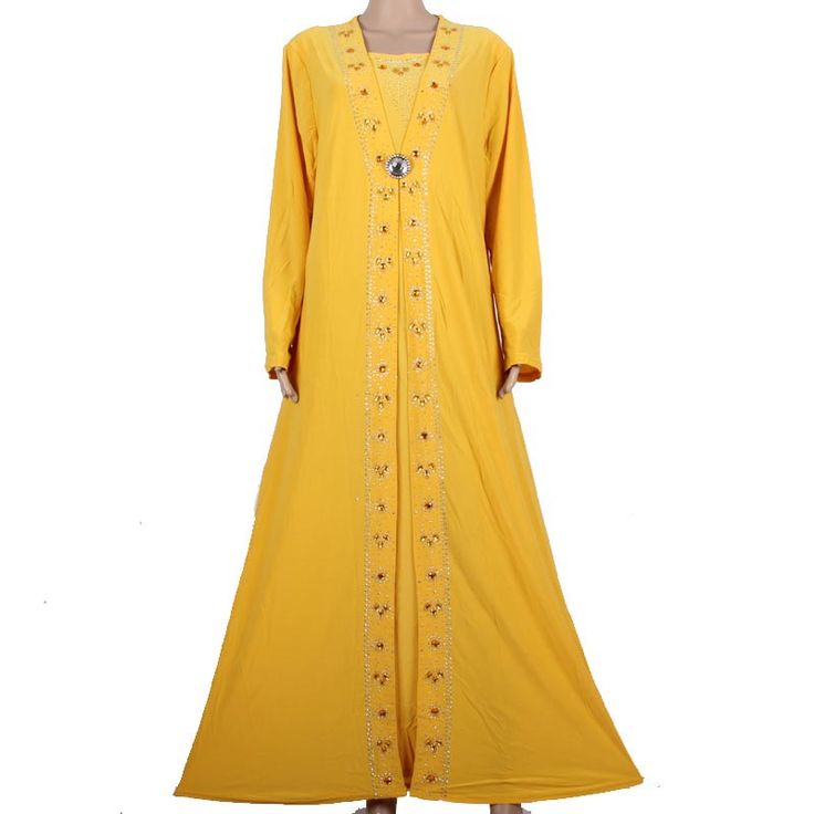 Like and Share if you want this  Islamic Clothing for Women Muslim Abaya Dress Beading Design Modest Jilbabs and Abayas Kaftan Dress Yellow 55X1090-1     Tag a friend who would love this!     FREE Shipping Worldwide     Buy one here---> http://oneclickmarket.co.uk/products/islamic-clothing-for-women-muslim-abaya-dress-beading-design-modest-jilbabs-and-abayas-kaftan-dress-yellow-55x1090-1-2/