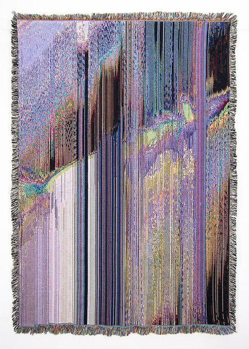6 New Woven Glitch Blanket Designs Designed by Phillip David Stearns